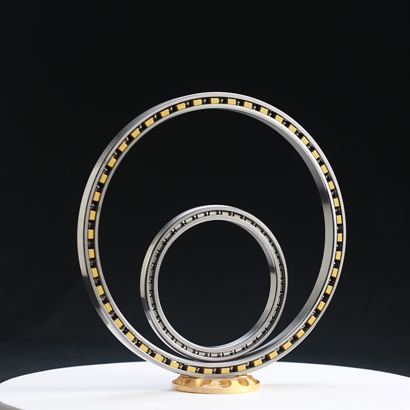 Equal section thin wall four-point contact ball bearing